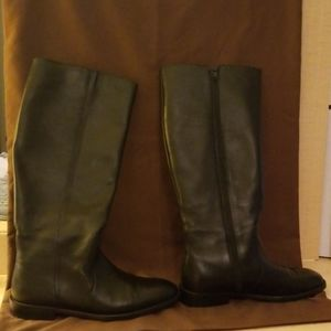 J Crew leather boots.